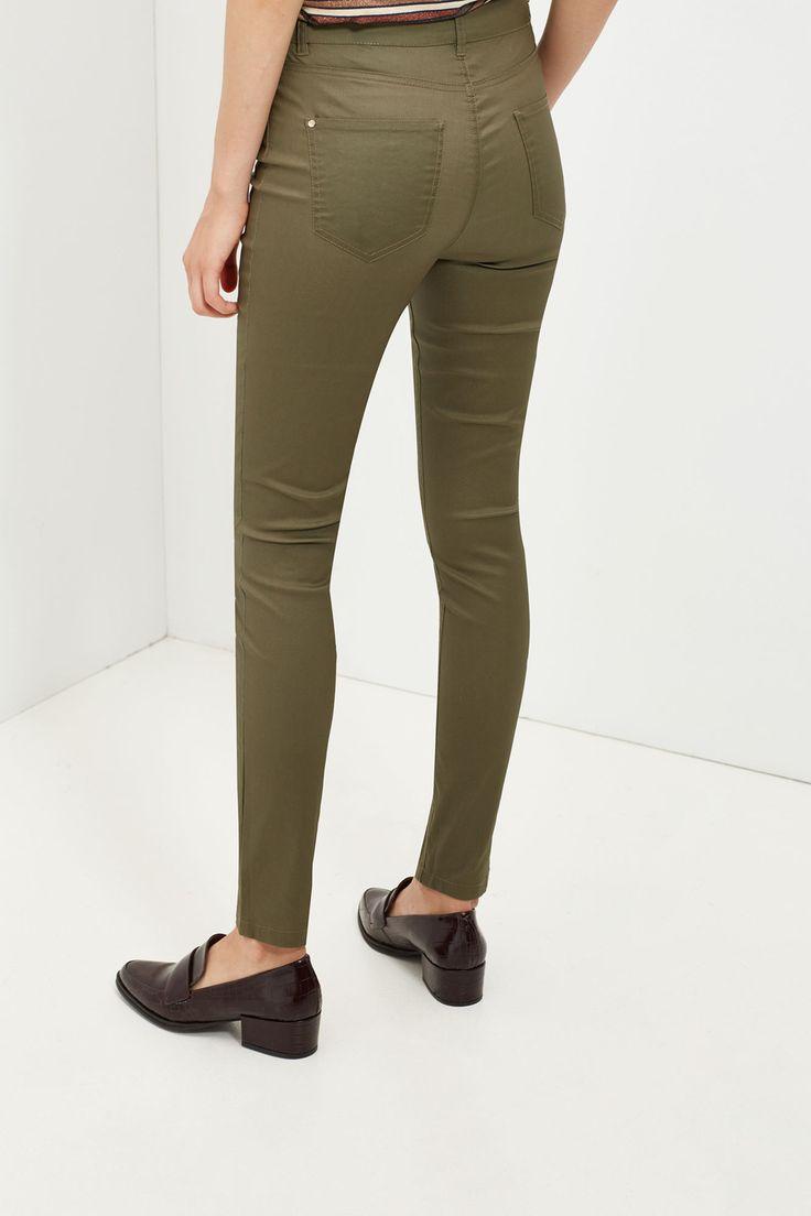 Pantalón encerado | Pantalones | Cortefiel