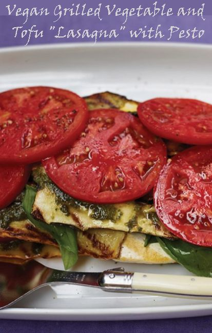 """#MeatlessMonday with the #Vegan Grilled Vegetable and Tofu """"Lasagna"""" with Pesto http://www.miratelinc.com/blog/meatless-monday-with-the-vegan-grilled-vegetable-and-tofu-lasagna-with-pesto/ #veganrecipe"""