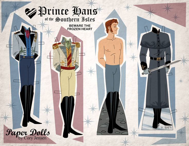 Paper Dolls By Cory Hans from Disney Frozen