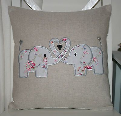 Laura Ashley Natural Austin Cushion Cover with Cath Kidston Elephant Applique in Home, Furniture & DIY, Home Decor, Cushions | eBay