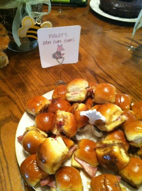 Made these for my daughter-in-law's baby shower - maybe a little cannibalistic for Piglet but yummy for us