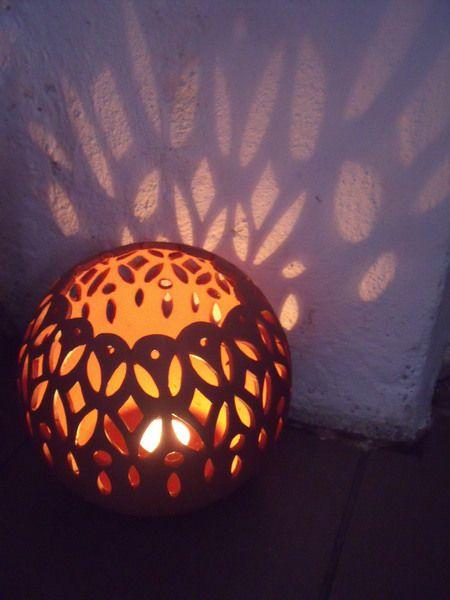 Windlicht Waldorf Keramik Unikat Handarbeit  von Scaletti auf DaWanda.com