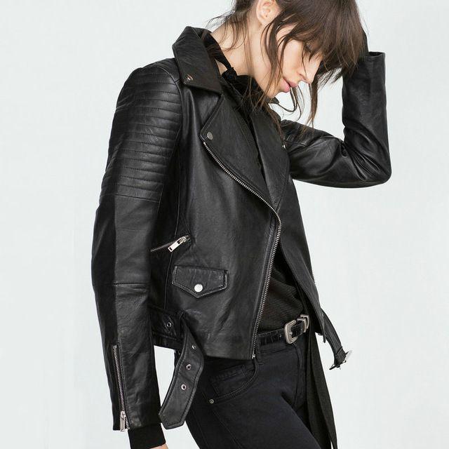 2016 новинка женщины искусственной кожи жакет дамы мотоциклов пу черный длинный рукав пальто с поясом