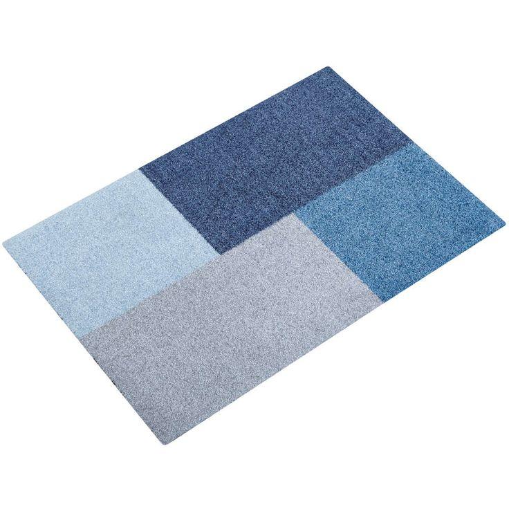 Mette Ditmer dørmatte domino blå 55x80