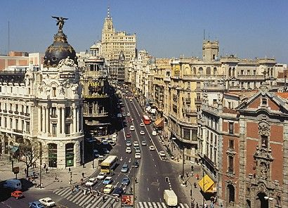 Grand Via in Madrid, Spain
