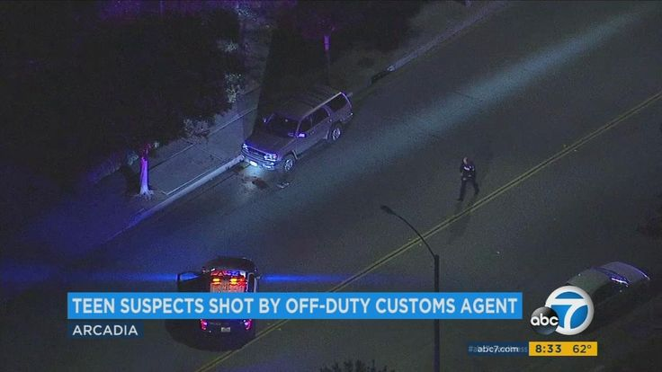 Armed robbery suspect 15 dies after being shot by off-duty customs agent in Arcadia authorities say