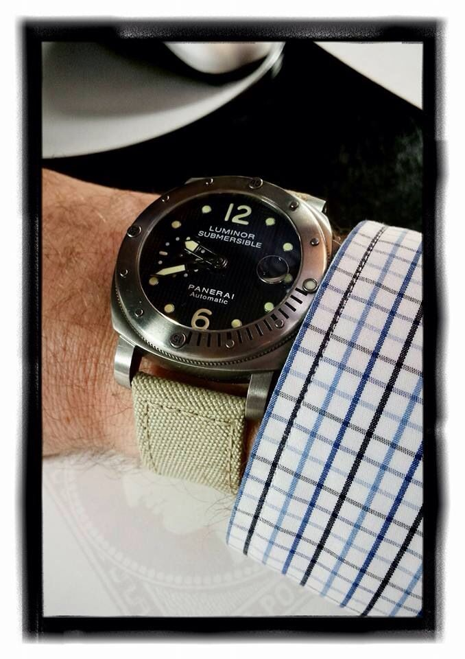 Panerai Submersible on canvas.