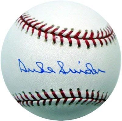 Duke Snider Autographed MLB Baseball PSA/DNA . $59.00. This is a MLB baseball that has been hand signed by Duke Snider. The autograph has been certified authentic by PSA/DNA and comes with their sticker and matching certificate.