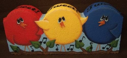 Tweetin' Decorative Painting Pattern Packet by OilCreekOriginals, $7.95
