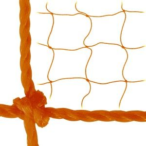"3MM 7' x 21' x 3' x 7' Soccer Goal Net. Extremely high quality 120mm netting constructed from tough, high tenacity, knotted polyethylene. Features a durable, bound, rope perimeter for easy hanging and a 4"" square mesh. 3MM twisted net measures 7' H x 21' W x 3' D x 7' B. Don't see your size? Send us an e-mail to request a quote. Please be sure to include the quantity and your shipping address for a complete quote. Orange color only. Once opened, this item cannot be returned."