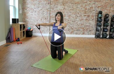 7-Minute Seated Arm Workout with Band Video via @SparkPeople