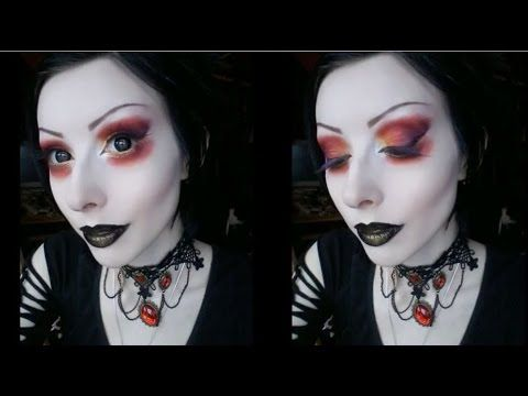 Red & Gold Gothic Makeup Tutorial