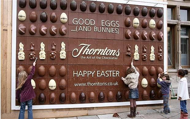 Thorntons-Chocolate wall http://www.arcreactions.com/
