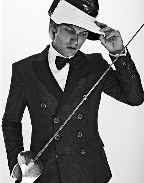 Fencing + black tie. Zippertravel.com Digital Edition