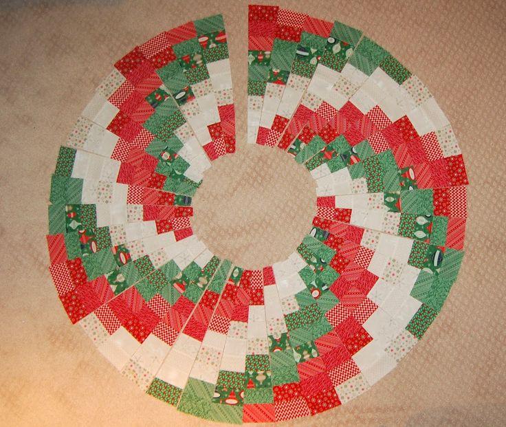Moda Bake Shop: Peppermint Swirl Christmas Tree Skirt