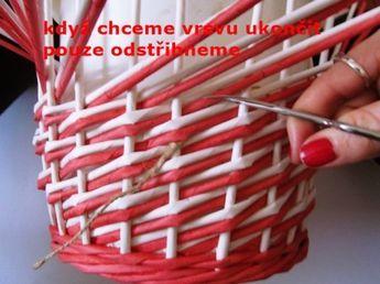 great pics as tutorial... Moje pletení z papíru - Fotoalbum - NÁVOD - VZORY PLETENÍ - NÁVOD - NA VZOR VRSTVA
