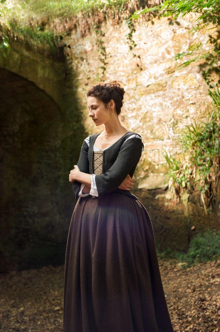 Caitriona Balfe as Claire Fraser in Season One of Outlander on Starz