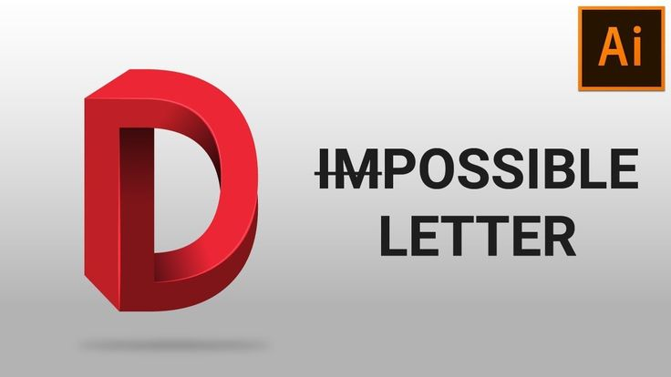 Learn the Method to Create Impossible Letters in Adobe Illustrator - Vector Slate | Graphic Design Tutorials