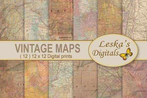 Maps Digital Background by Leska's Digitals on @creativemarket