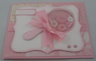 Baby girl rattle shaker card