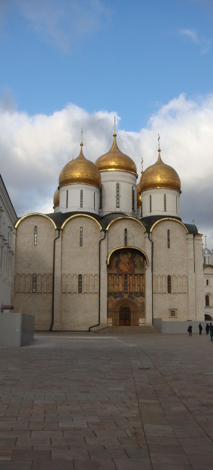 Assumption Cathedral, Moscow, Russia.    I think we went in here.  Too sleep deprived from jet lag.