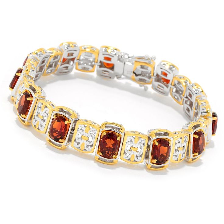 157-705 - Gems en Vogue Choice of Length 9.12ctw Madeira Citrine Link Bracelet