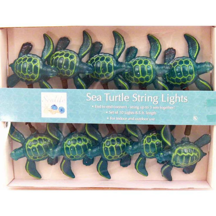 Sea Turtle String Lights   Beach Party Decorations   Ocean Theme Lighting