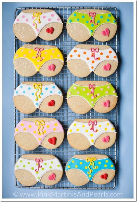 Isty Bitsy Teenie Weenie Yellow Polka Dot Bikini Tushie Cookies