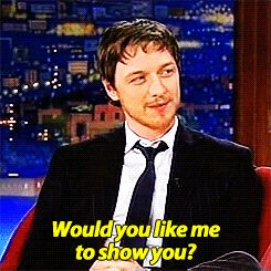 james mcavoy ella gif craig ferguson james mcavoy gif i tried reversing the gifs but it looks all wrong