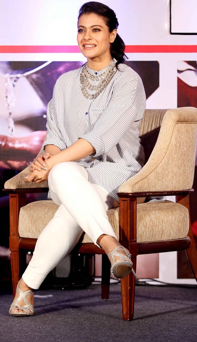 Kajol at the Lifebouy 'Help A Child Reach 5' event. #Style #Bollywood #Fashion #Beauty