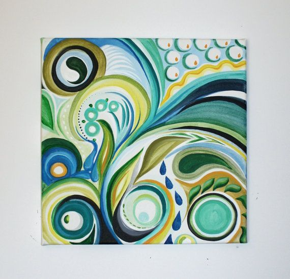 12 Quot X 12 Quot Original Abstract Acrylic Swirl Painting Faves