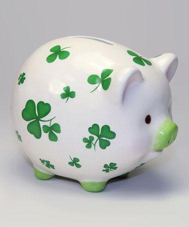 Another great find on #zulily! Shamrock Piggy Bank #zulilyfinds