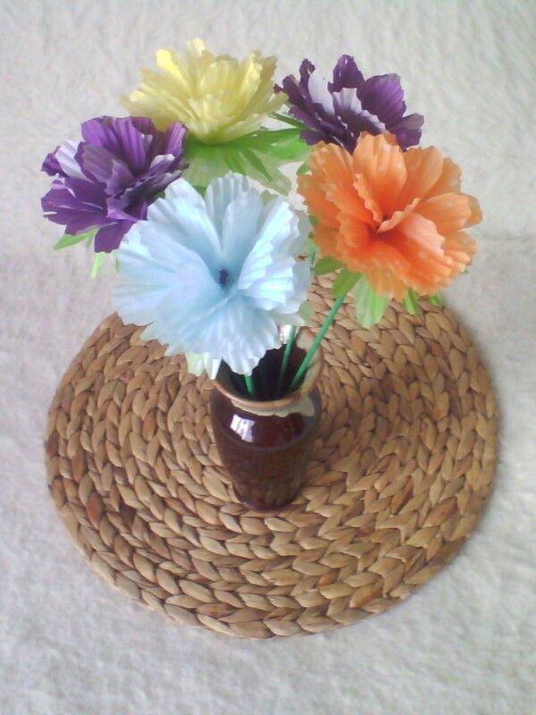 Kwiatki z foremek do mufinek.