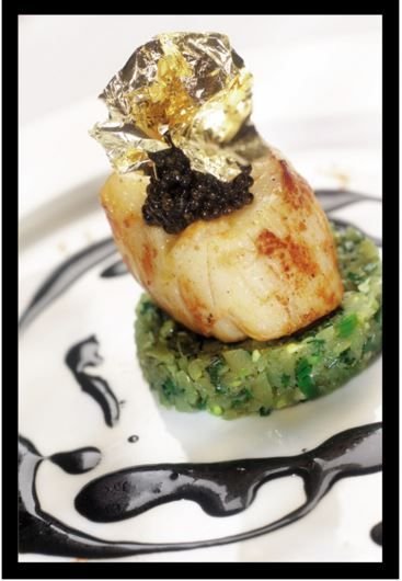 King Scallop and Caviar dish from Thornton's restaurant at The Fitzwilliam Hotel Dublin on St. Stephen's Green.