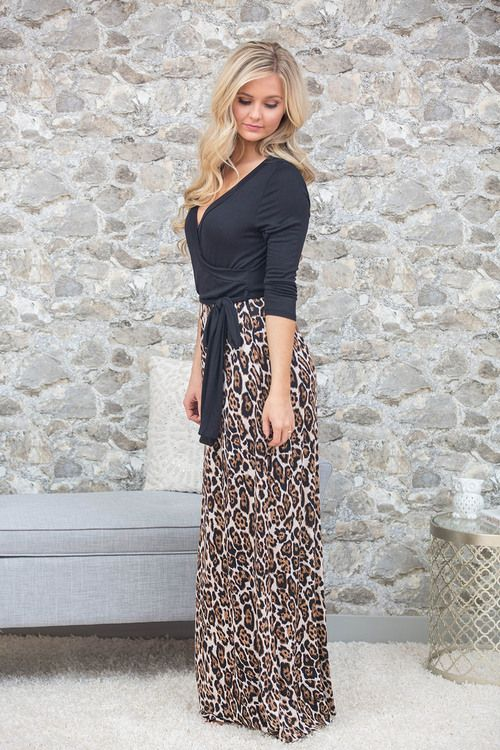 This stunning animal print maxi is sure to be amazing at so many occasions!