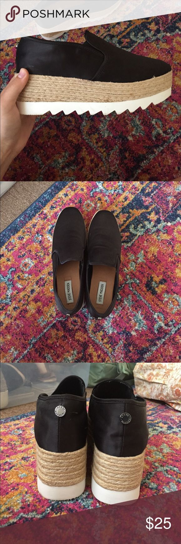 steeve madden platform espadrilles super cute/comfy steve madden platforms!! Never worn! NWOT!! taking offers!!! Steve Madden Shoes Platforms