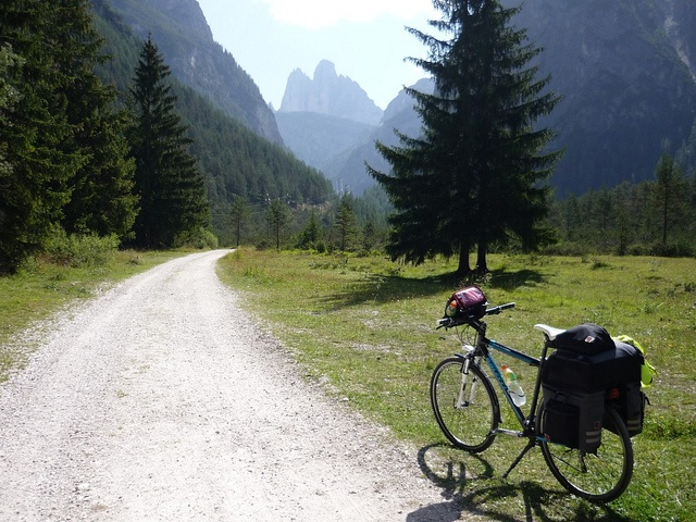 On a cycling path from Dobbiaco to Cortina.   Italy
