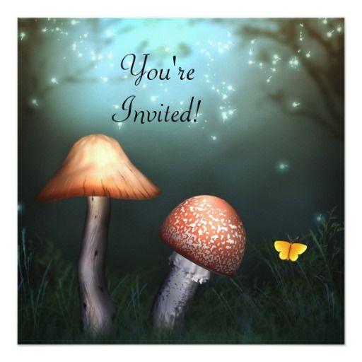 Enchanted Toadstool Garden Event Invitation