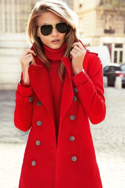 Red coat for winter!