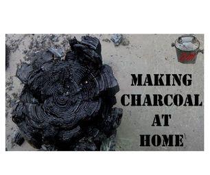 Making Charcoal at Home. Free DIY Fuel
