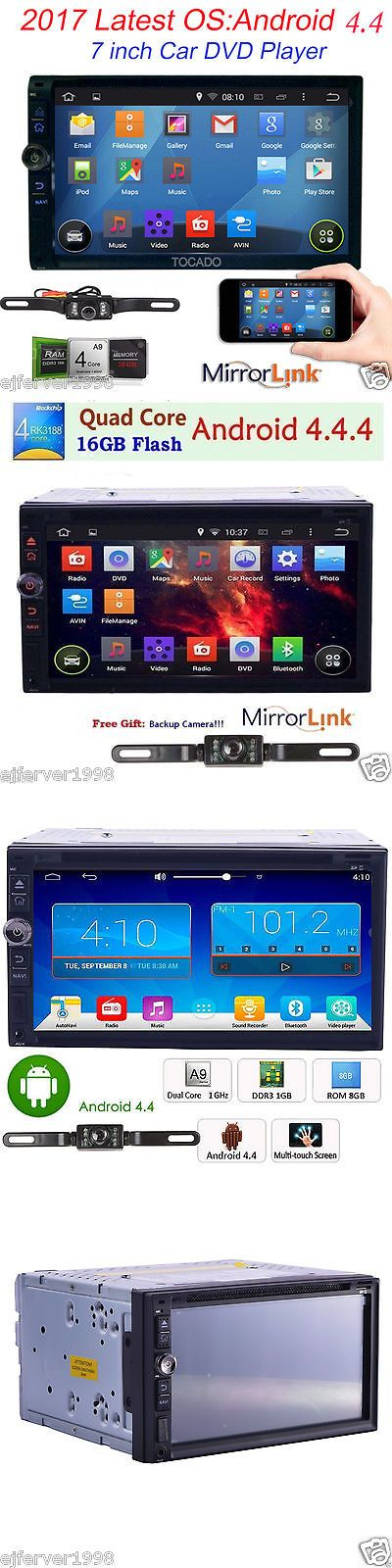 Vehicle Electronics And GPS: Quad Core Android4.4 3G Wifi 7 Double 2 Din Car Radio Stereo Dvd Player Gps Nav BUY IT NOW ONLY: $98.99