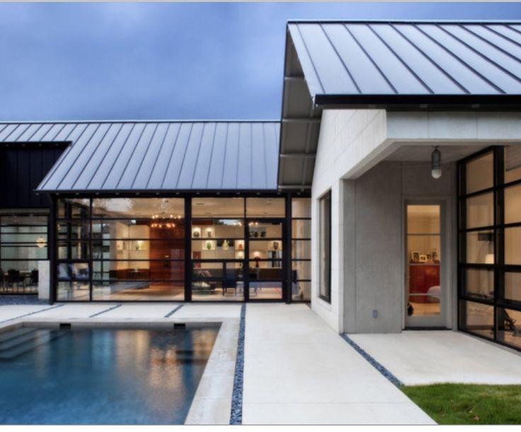 Metal Roof Glass To The Courtyard Future Abode In 2019
