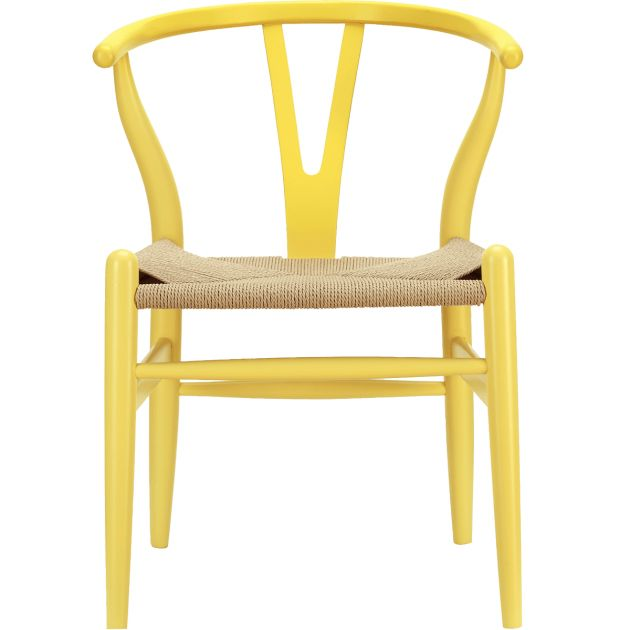 I've always loved the wishbone chair and the yellow is a nice 'twist'