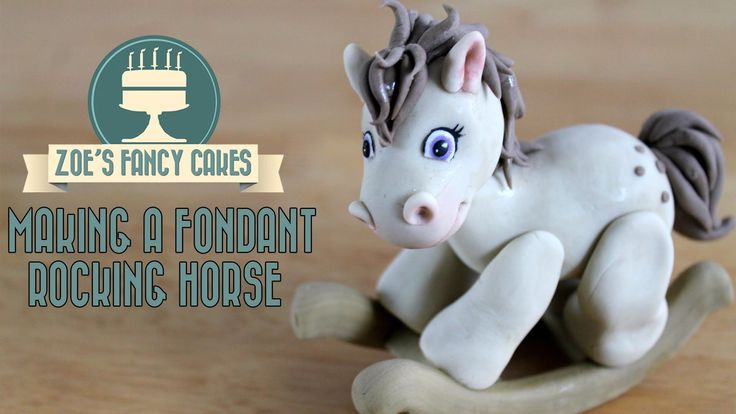 How to make a fondant rocking horse How To Tutorial Zoes Fancy Cakes