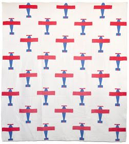 Patriotic Airplanes quilt, c. 1940