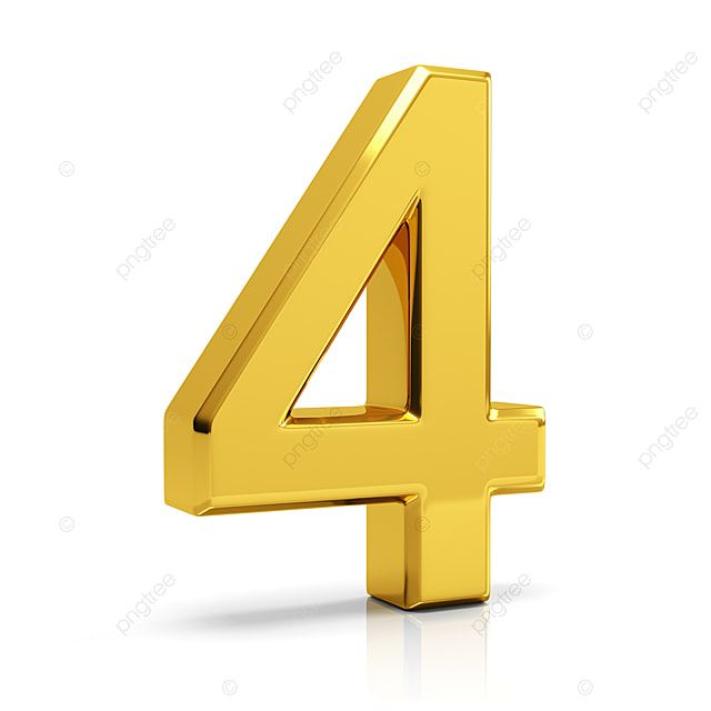Oro Numero 4 4 4 Numero Numero 4 Png Y Psd Para Descargar Gratis Pngtree Prints For Sale Gold Pattern Gold Frame