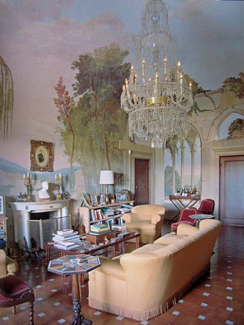 landscape mural ---I have one in the foyer, wonder if I could get MOT to take down new wallpaper in the dining room?