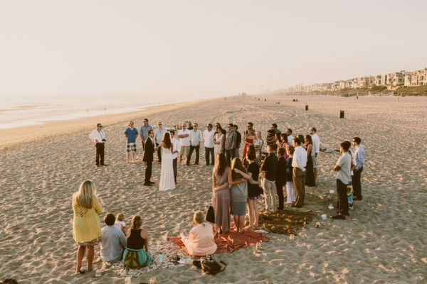casual cozy beach wedding |  www.GinaAndRyan.com