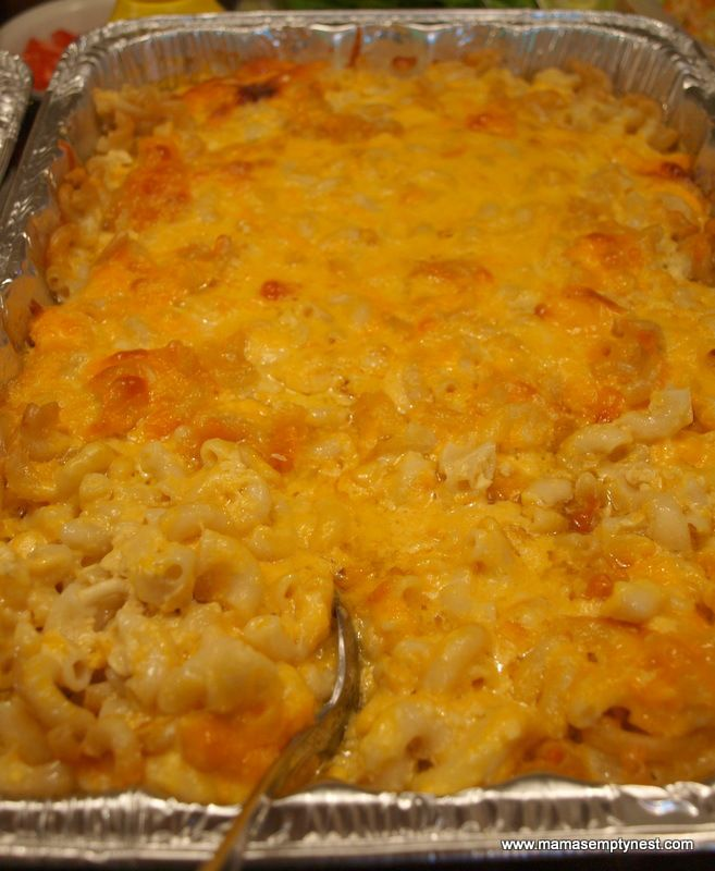 Sweetie Pie's Mac & Cheese baked  uses eggs, and 4 cheeses!!!! Rich baby, rich!