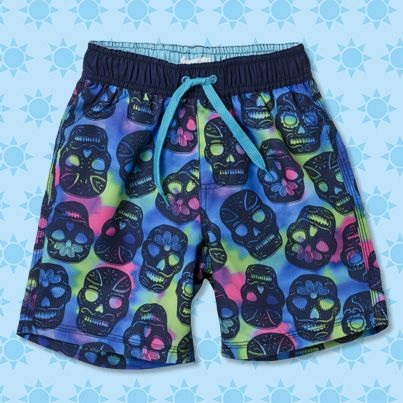 Pumpkin Patch Skull Boardie - available in sizes 5 to 12 years http://www.pumpkinpatchkids.com/